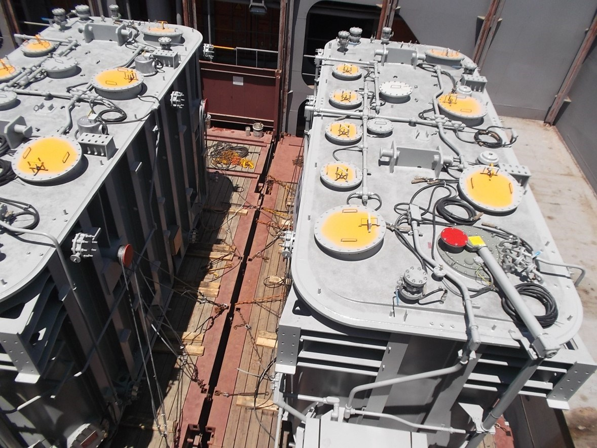 Transformer Exports to US Inspection & Lashing